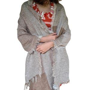 Cotton On Tan Beige Wrap Shawl Large Scarf